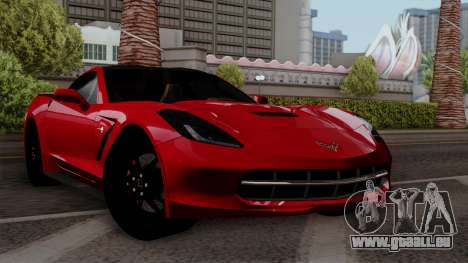Chevrolet Corvette C7 Stingray 1.0.1 pour GTA San Andreas vue de dessous
