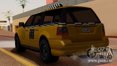 Landstalker Taxi SR 4 Style pour GTA San Andreas laissé vue