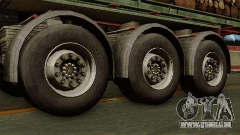 Trailer Cargos ETS2 New v2 pour GTA San Andreas sur la vue arrière gauche