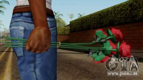 Original HD Flowers pour GTA San Andreas troisième écran