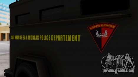 GTA 5 Enforcer Indonesian Police Type 2 für GTA San Andreas rechten Ansicht