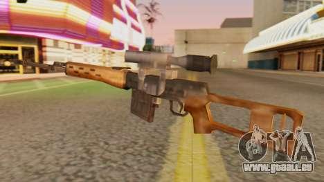 SVD SA Style pour GTA San Andreas deuxième écran