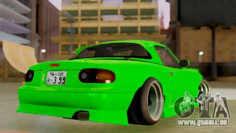 Mazda MX-5 BnSports pour GTA San Andreas vue arrière