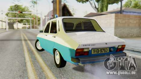 Dacia 1310 Militia pour GTA San Andreas laissé vue
