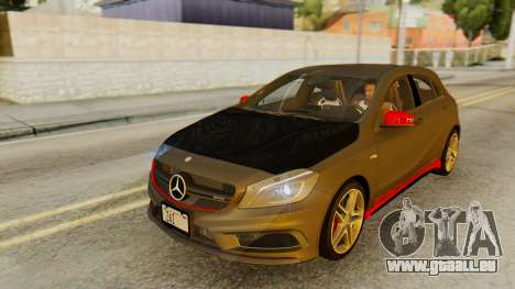 Mercedes-Benz A45 AMG 2012 PJ für GTA San Andreas Unteransicht
