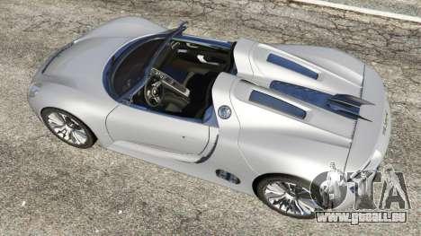 GTA 5 Porsche 918 Spyder vue arrière