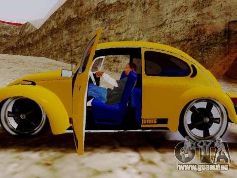 Volkswagen Beetle 1975 Jeans Édition Personnalis pour GTA San Andreas