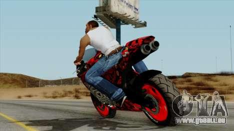 Bati Batik Motorcycle v2 für GTA San Andreas linke Ansicht
