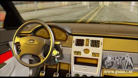 Lada Priora Porsche Customs pour GTA San Andreas sur la vue arrière gauche