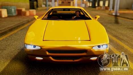 HD Infernus pour GTA San Andreas vue arrière