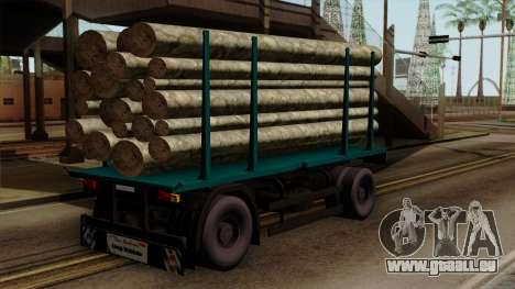 GTA 5 Fieldmaster Wood Trailer pour GTA San Andreas laissé vue