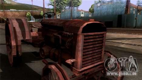 GTA 5 Rusty Tractor für GTA San Andreas zurück linke Ansicht