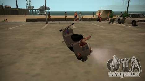 Stunt-Faggio für GTA San Andreas linke Ansicht