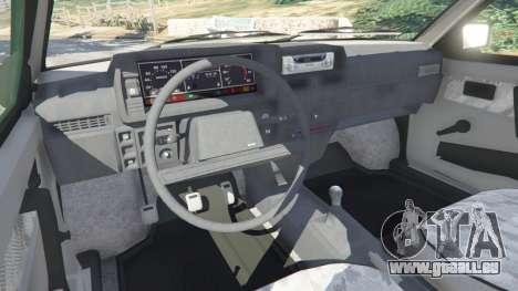 GTA 5 VAZ-21093i arrière droit vue de côté