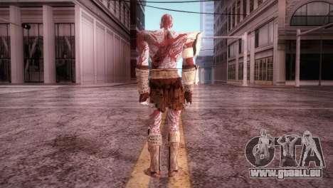 God Of War 3 Kratos Blood für GTA San Andreas dritten Screenshot