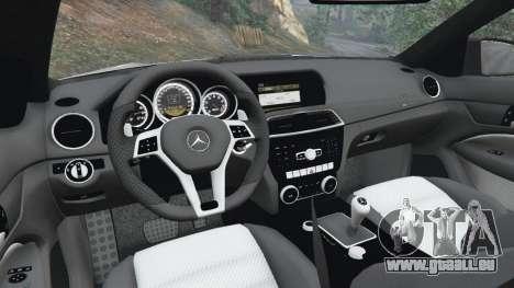 GTA 5 Mercedes-Benz C63 AMG 2012 volant