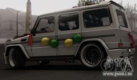 Mercedes Benz G65 Hamann Tuning Wedding Version für GTA San Andreas Seitenansicht