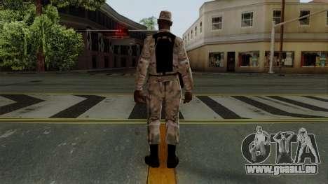Der Afro-amerikanischen Soldaten Multicam für GTA San Andreas dritten Screenshot