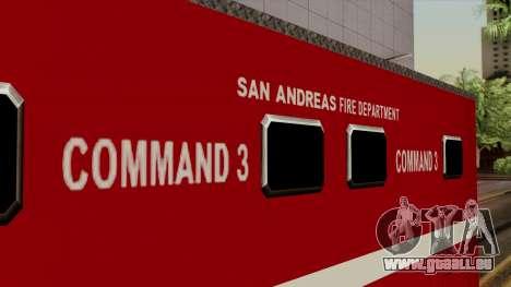FDSA Mobile Command Post Truck für GTA San Andreas rechten Ansicht