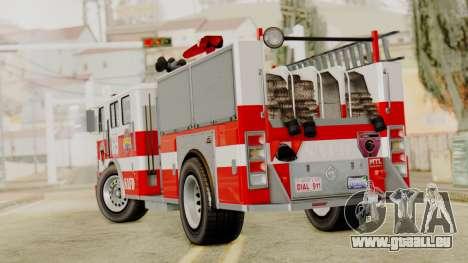 MTL SAFD Firetruck pour GTA San Andreas laissé vue
