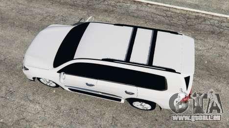 GTA 5 Lexus LX 570 2014 Rückansicht