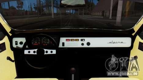 Renault 12 Alpine pour GTA San Andreas vue de droite
