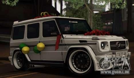 Mercedes Benz G65 Hamann Tuning Wedding Version für GTA San Andreas Unteransicht