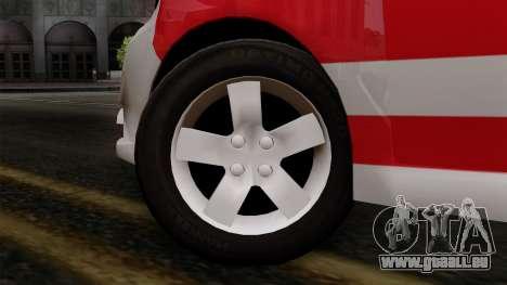 Chevrolet Aveo Taxi Poza Rica pour GTA San Andreas sur la vue arrière gauche