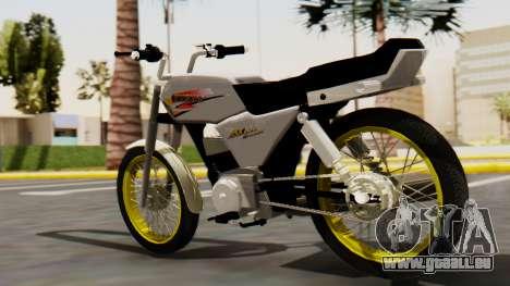 Suzuki AX 100 Stunt pour GTA San Andreas laissé vue