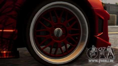 Mitsubishi Eclipse GSX 1999 Mugi Itasha für GTA San Andreas zurück linke Ansicht