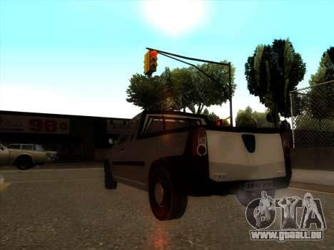 Dacia Logan Pick-up Necarosat pour GTA San Andreas sur la vue arrière gauche