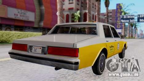 Chevrolet Caprice 1980 SA Style Cab pour GTA San Andreas laissé vue
