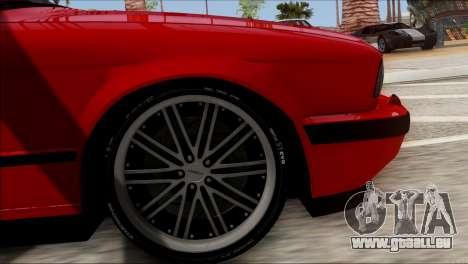 BMW M5 E34 BUFG Edition für GTA San Andreas zurück linke Ansicht