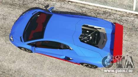 GTA 5 Lamborghini Aventador LP700-4 v1.2 vue arrière