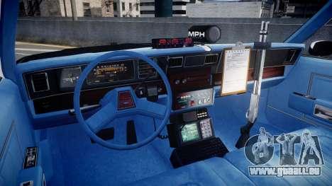 Chevrolet Caprice 1989 LAPD [ELS] für GTA 4 Rückansicht