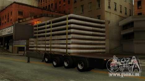 Flatbed3 Grey pour GTA San Andreas laissé vue