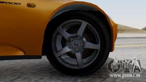 Honda S2000 Fast and Furious pour GTA San Andreas sur la vue arrière gauche