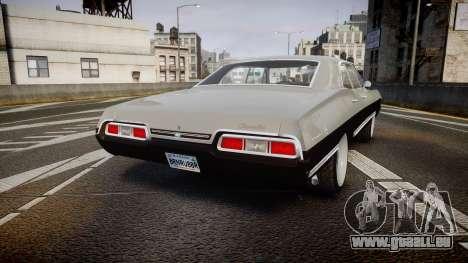 Chevrolet Impala 1967 Custom pour GTA 4 Vue arrière de la gauche
