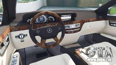 GTA 5 Mercedes-Benz S500 W221 v0.2 [Alpha] hinten rechts