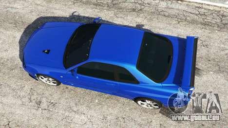 GTA 5 Nissan Skyline R34 GT-R v0.1 Rückansicht