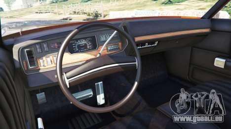 GTA 5 Dodge Polara 1971 arrière droit vue de côté