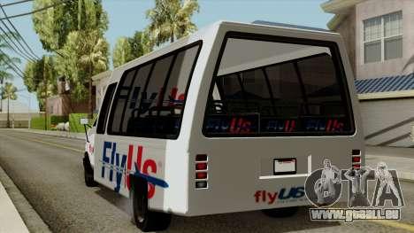 Fly Us Airport Bus pour GTA San Andreas laissé vue