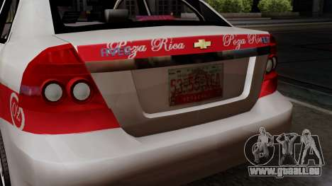 Chevrolet Aveo Taxi Poza Rica pour GTA San Andreas vue arrière
