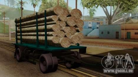 GTA 5 Fieldmaster Wood Trailer für GTA San Andreas