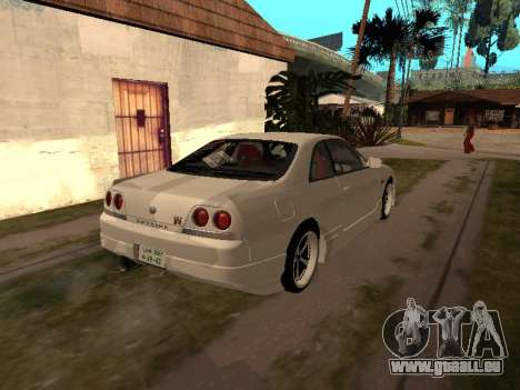 Nissan Skyline R33 Drift Monster Energy JDM für GTA San Andreas Rückansicht