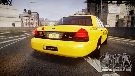 Ford Crown Victoria 2011 NYC Taxi pour GTA 4 Vue arrière de la gauche