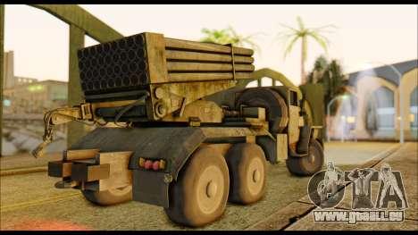 BM-21 Grad CoD MW pour GTA San Andreas sur la vue arrière gauche