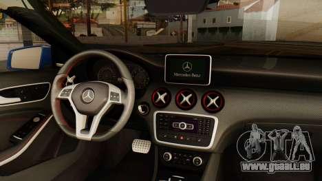 Mercedes-Benz A45 AMG 2012 PJ pour GTA San Andreas sur la vue arrière gauche