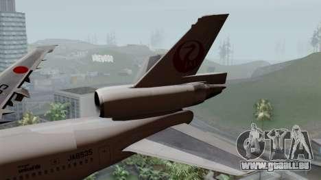 DC-10-30 Japan Airlines pour GTA San Andreas sur la vue arrière gauche