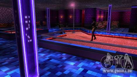 Retextured Innenraum strip-clubs für GTA San Andreas dritten Screenshot